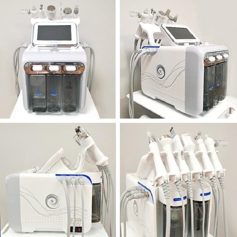 2020 العناية بالبشرة 6 في 1 أكوا قشر الأكسجين جت آلة الوجه هيدرا dermabrasrasion كريستال معدات التجميل microdermabrashasion