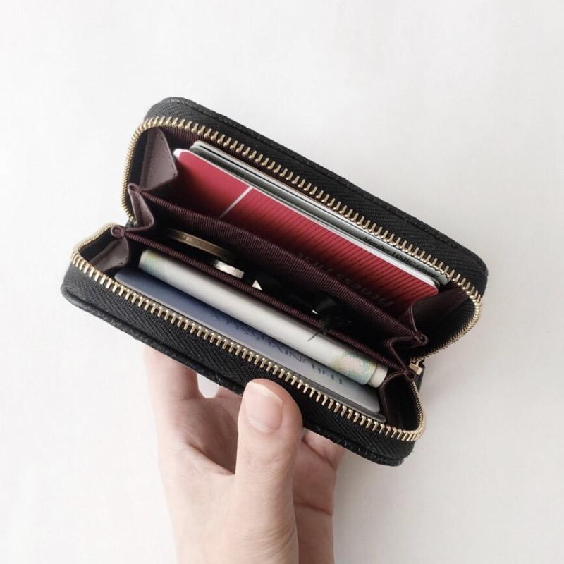 2020fashion tasarımcı kredi kartı sahibi yüksek kaliteli klasik deri çanta katlanmış notlar ve makbuzları çanta cüzdan çanta dağıtım kutusu çanta