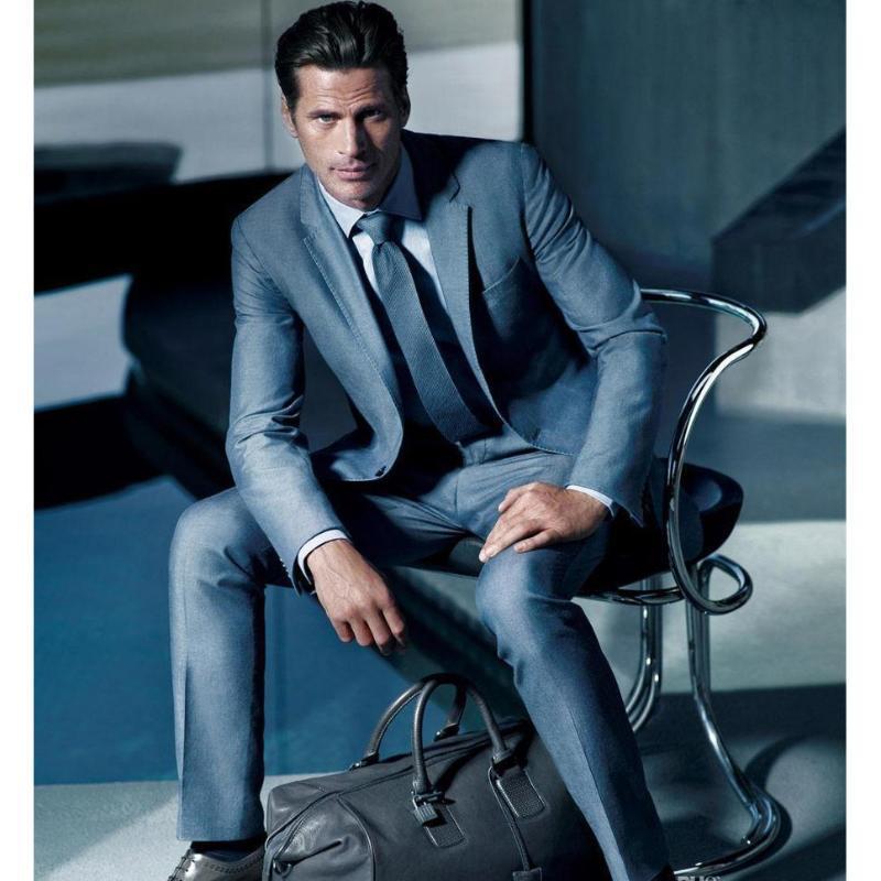 2020 Erkekler Yeni Geliş Suit 2 adet Tek göğsü Notch Yaka Düz Slim Fit Casual Smokin İçin Düğünler (Suits + Pantolon)