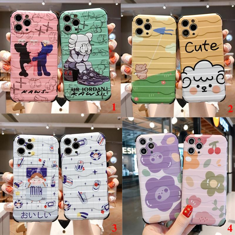 Super Cute Girl Sesame Street Flower 3D horizontal travel box anti-drop silicone soft cover for iphone MAX XS XR 6 7 8plus X phone cases