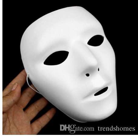 Cosplay Cadılar Bayramı Festivali PVC Beyaz Maske Parti Oyuncaklar Benzersiz Erkekler Kadınlar için Tam Yüz Dans Kostüm Maske H ...