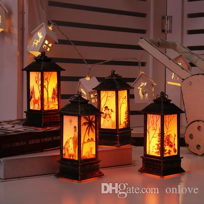 6 نمط عيد الميلاد الديكور ضوء شمعدان ضوء الليل سانتا ثلج سطح مكتب الديكور عيد الميلاد الحرة دي إتش إل مجانا XD22627