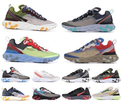 UNDERCOVER x nächstes React Element 87 Stück weißen Turnschuhe Marke Männer Frauen Trainer Männer Frauen Designer Laufschuhe Schuhe