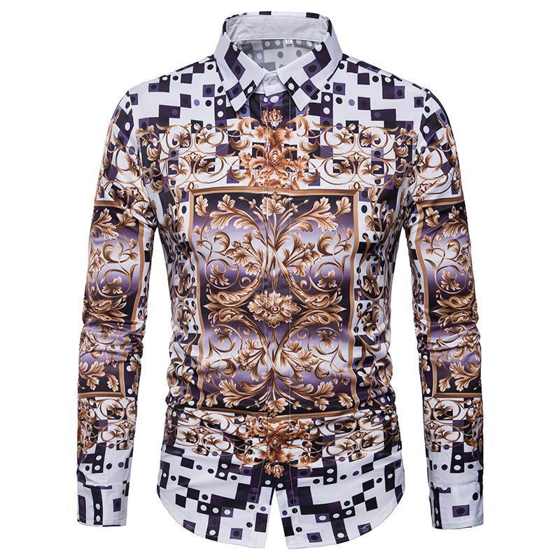 Sexy2019 Cruz Para O Homem 3d Originalidade Lattice Speckle Padrão Decorativo Impressão Camisa Dos Homens C424