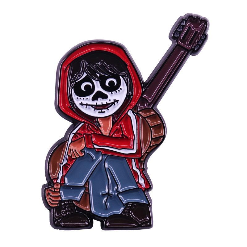 Coco Miguel crianças pin de lapela dia dos mortos boom decoração dos desenhos animados de fantasia