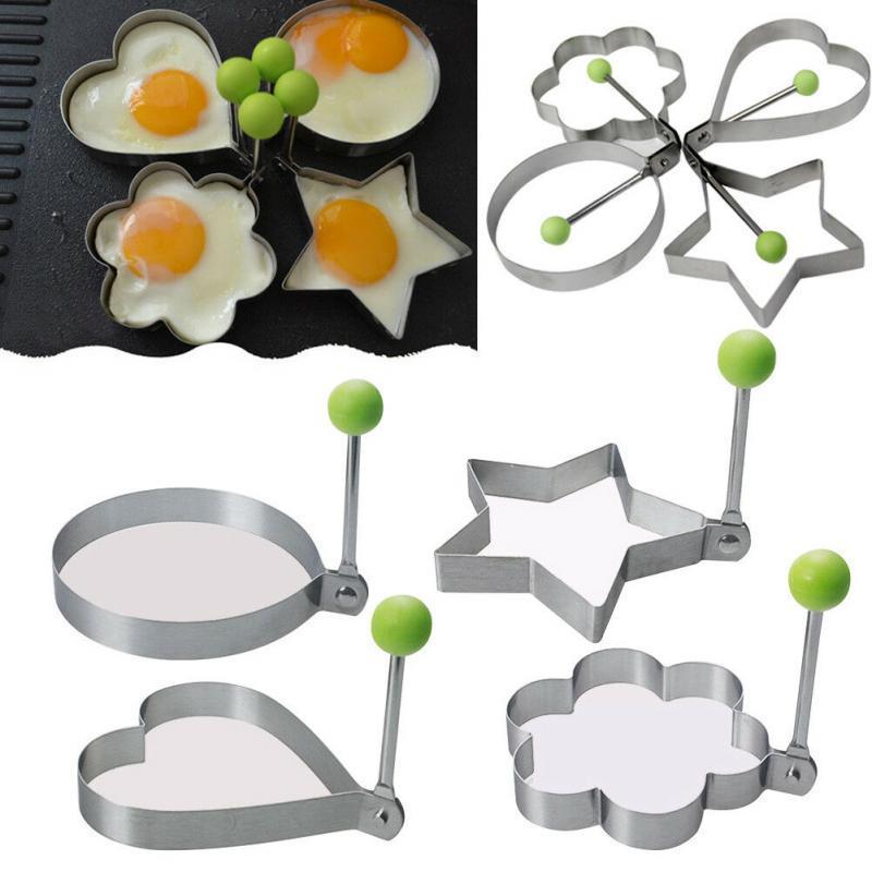1шт яичницы Shaper Блины Mold нержавеющей стали Омлет Mold Сковороды Яичные Cooking инструменты Кухонные принадлежности