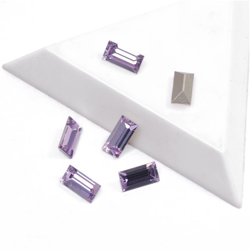 YANRUO 4501 أفضل جودة مجوهرات الخرز أحجار الراين اللون البنفسجي اللون الرغيف الفرنسي الشكل يتوهم حجر الراين لDIY 3D الفن زينة الأظافر
