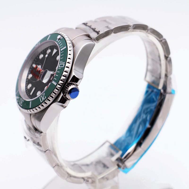 1 Супер N Завод Часы наутилус автоподзаводом керамический ободок сапфировое стекло 40MM синий циферблат 116610LV V7 2813 Diving мужские часы