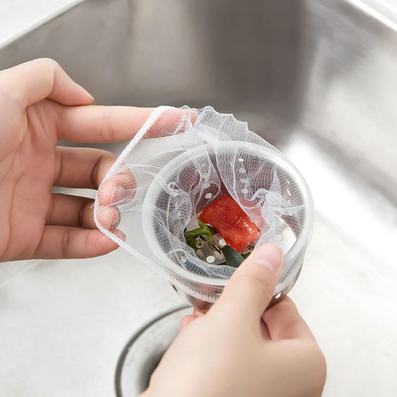500 шт. одноразовые кухонная раковина ситечко мешок душ раковина волос мусор хранения сетчатый мешок канализационная вода фильтр для дома ресторан