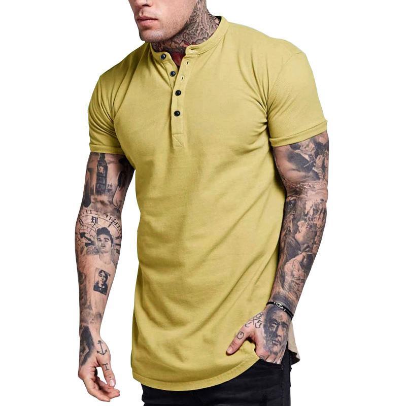 Muscle manica corta O del collo uomini di modo Fittness del T-Shirt Top unico solido estate casuali quotidiani più sottile magliette M-XXL