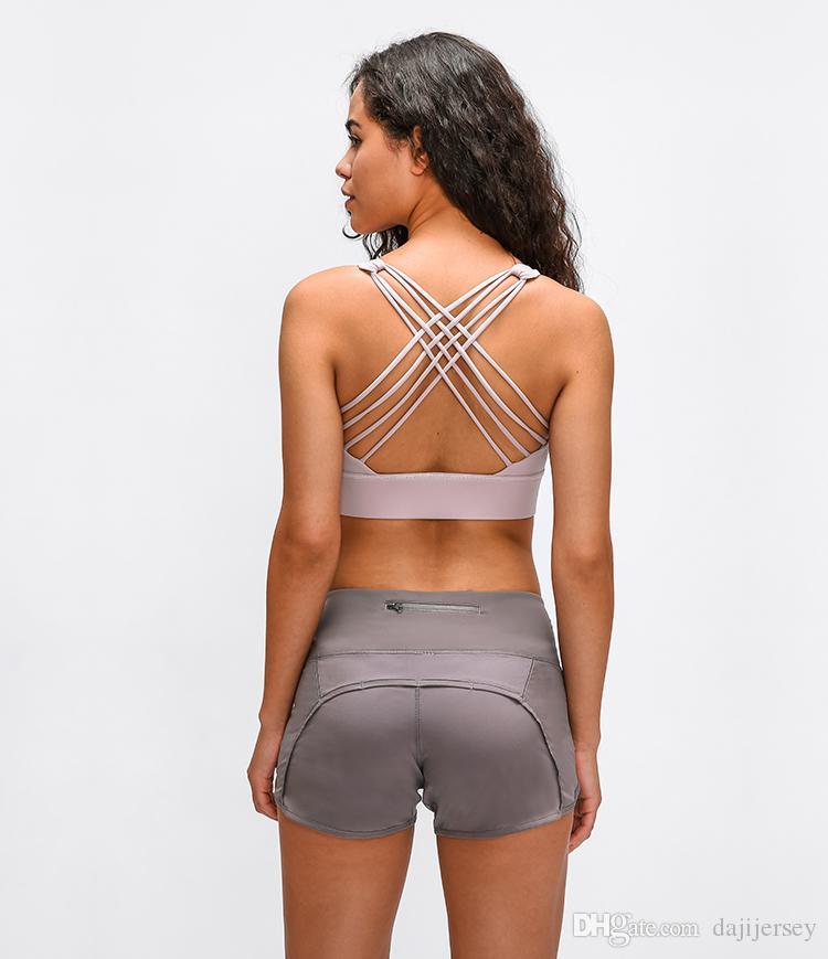 LU-23 2020 nuove donne di sport sentimento nudo reggiseno di yoga allenamento di ginnastica della maglia Backless sexy reggiseno Fitness Corsa Top Sexy Lady Underwear