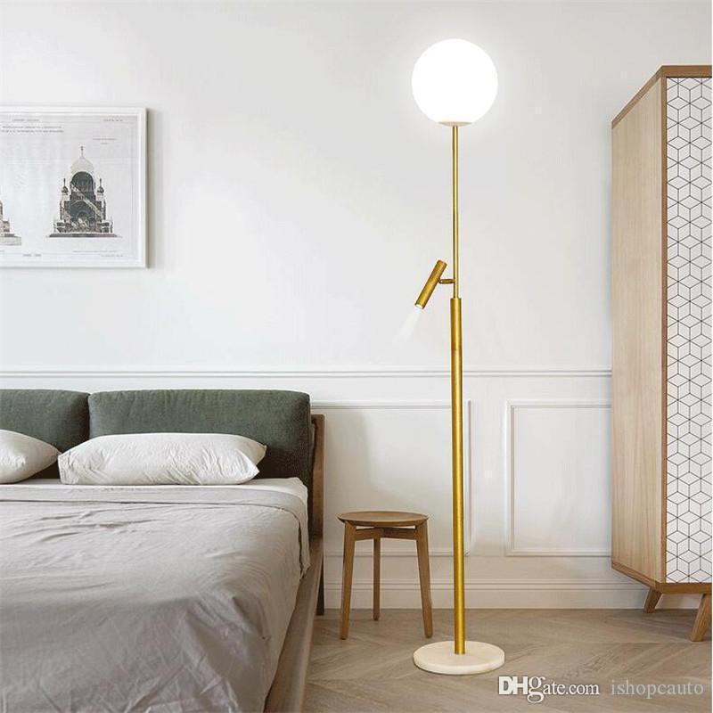 Amerikan Tarzı Modern demir boyalı zemin salon çalışması başucu ofis için ayarlanabilir E27 LED 220V yenilik zemin ışıkları lambalar