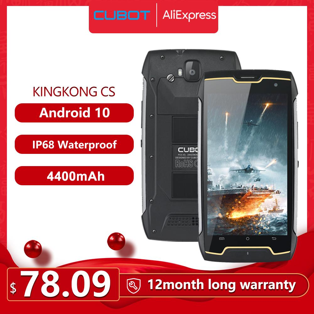 Cubot KingKong CS Android 10 IP68 Waterproof Smartphone 5 Inch 4400mAh Face ID Dual SIM Card Telephone Rugged Phone King Kong CS