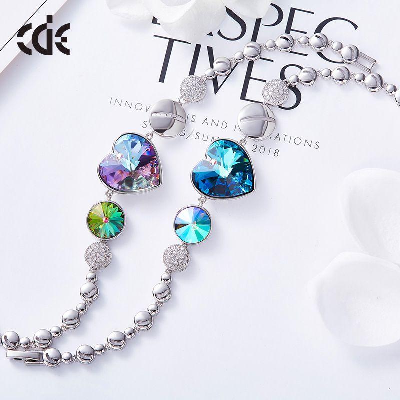 Fashion- heart-shaped lady bracelet uses the Swarovski crystal European and American bracelet