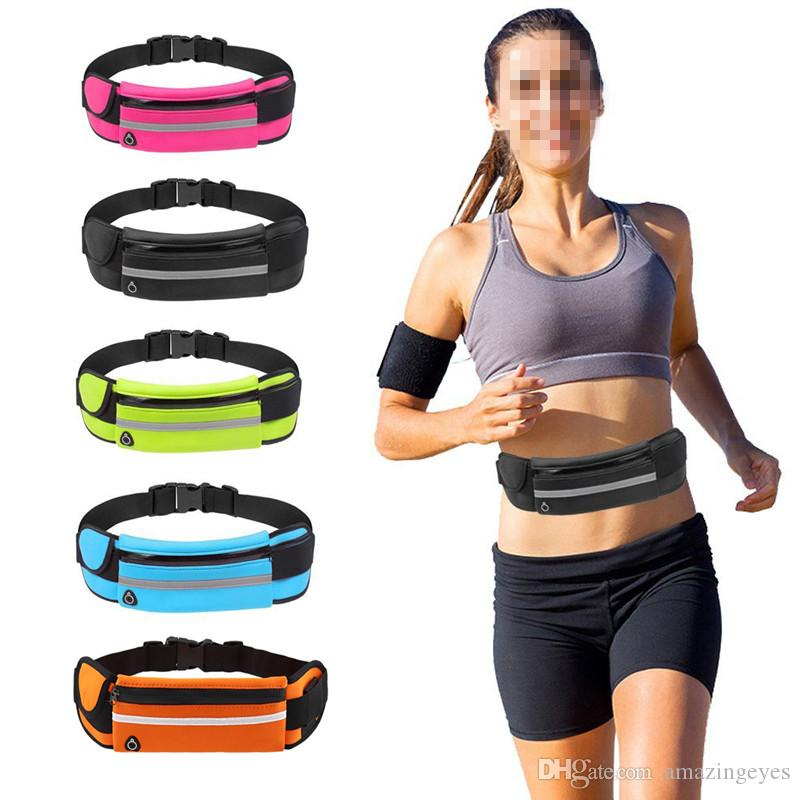 Outdoor Sports Pockets Anti-Theft Mobile Phone Running Belt Multi-Function Men And Women Invisible Kettle Pockets phone water bottle bag