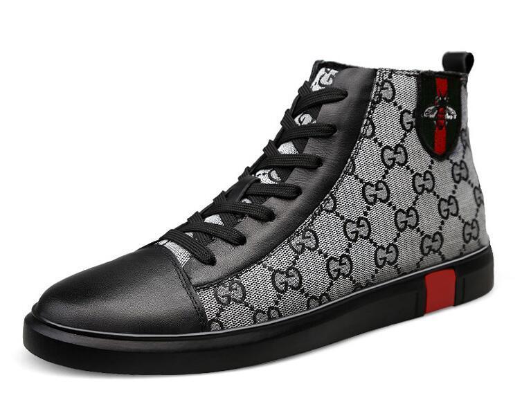 Zapatillas de deporte de lujo de calidad superior zapatos casuales zapatos de marca de moda de zapatos masculinos 2 color negro gris venta de marca modelo 38-46 BM557