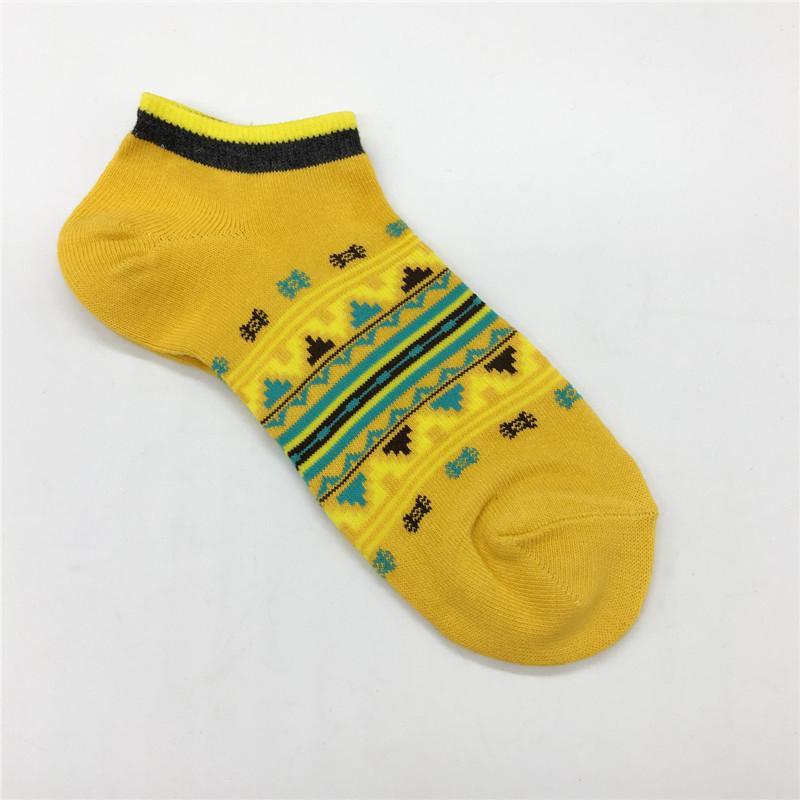 20ss estate delle donne degli uomini di colore giallo Sock breve Cutton Miscela adolescenti comodi Calze Attivo Intimo Calze Mens