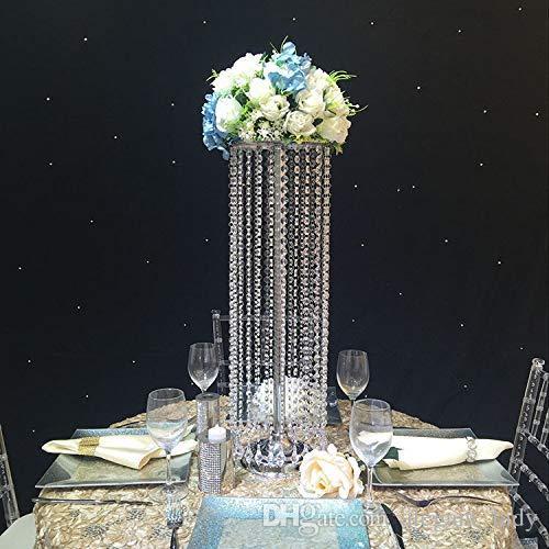 Dekorasyon Düğün Çiçek Mum Dekorasyon Metal 2020 DIY Düğün Kristal Masa Centerpieces Çiçek Vazo Yürüme Yolu Decor Standı
