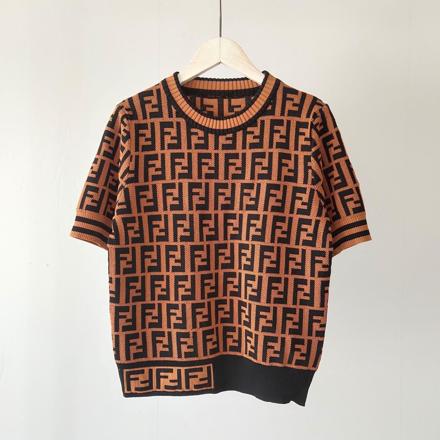 Neue Sommer-Entwerfer-Frauen-Shirts neue Art und Weise Luxuxdamen Knit T-Shirts beiläufige Marken-Top Tees FF Brief Mädchen Kurzarmhemd 20042308D