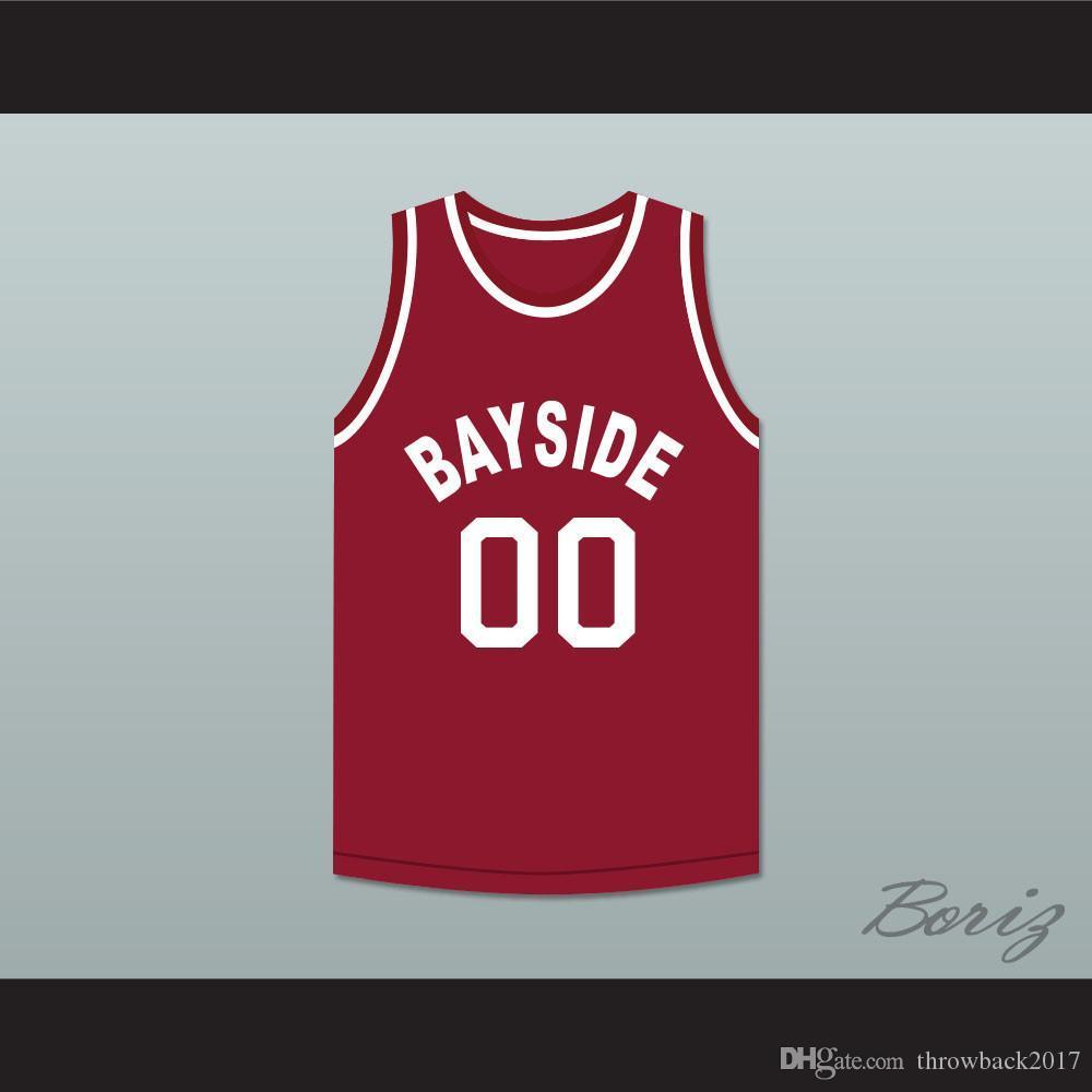 Saved By The Bell Screech 00 Bayside Tigers Basketball Jersey Auswärts-1 Gewohnheit jeder Name eine beliebige Anzahl freie Einkaufen