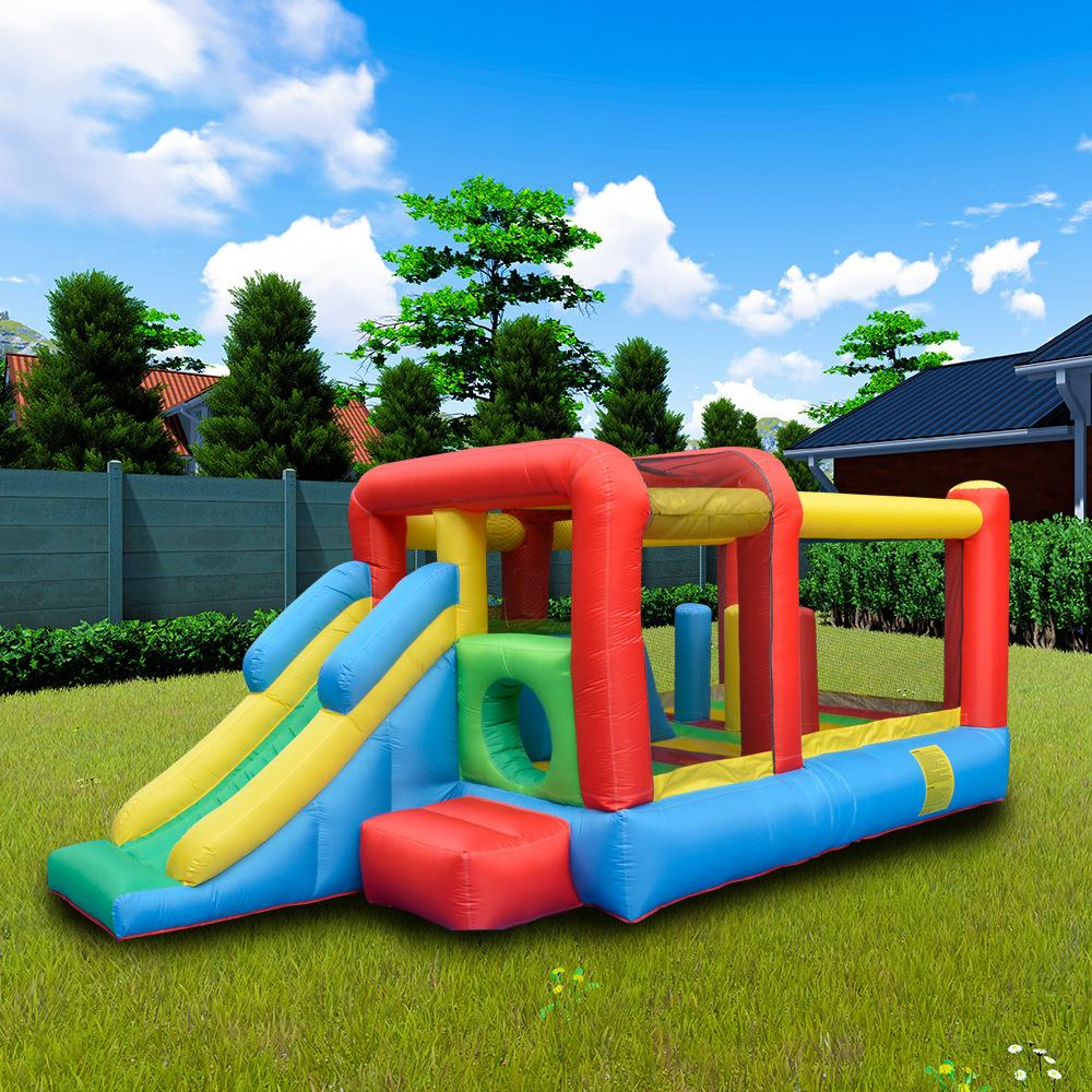 Inflatable Obstacle Bouncer Slide Combo Kids Play Obstacle Castle Slide with Air Blower Family Garden Events