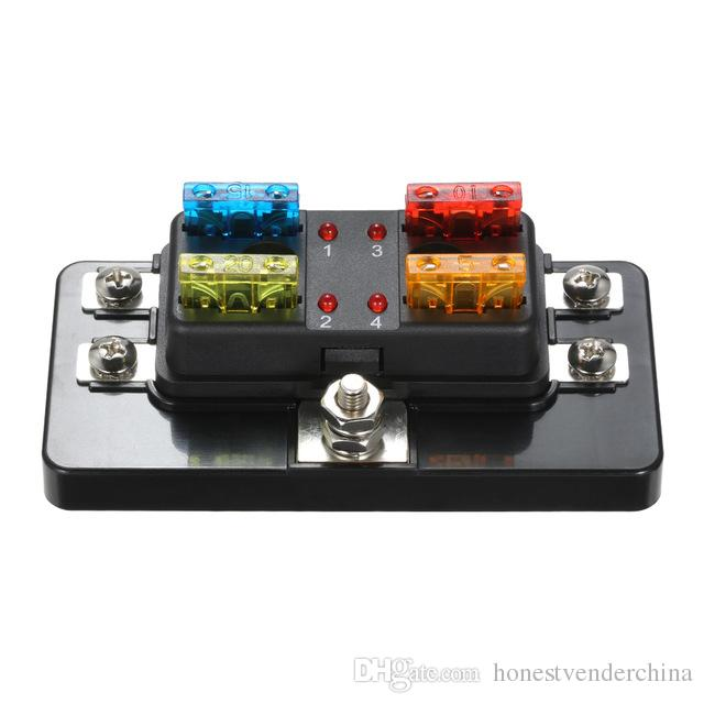 fuse box in boat 4 way blade fuse box with led indicator fuse block for car boat  4 way blade fuse box with led indicator