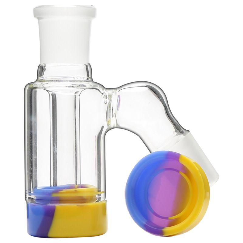 Crownahs Fumer Bongs Tuyaux d'eau de 3,5 pouces Récupération de verre Récupérez le porte-cendres Adaptateur de cendres avec des conteneurs de cire de silicone de 10 ml pour les bubbliers de la plate-forme DAB