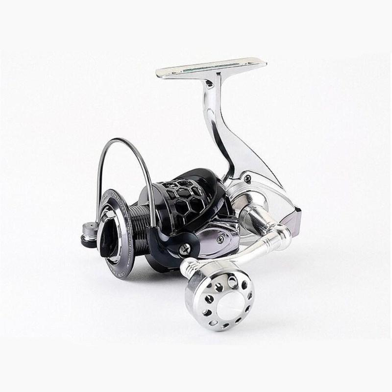 Corpo Inteiro de Metal Roda de pesca rolo fiador 12+1BB 5.2: 1 Roda de fiação de perfil baixo para a pesca de carpas de Água Salgada de Água Doce