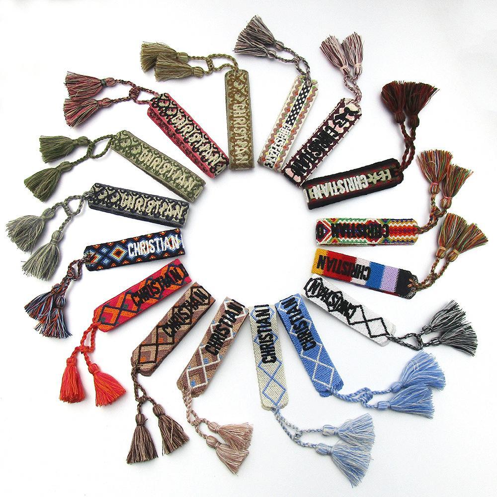 main vente chaude IG coton en mode bracelets tissés bracelets personnalisés bracelets de couple amour qualifiés pour gros
