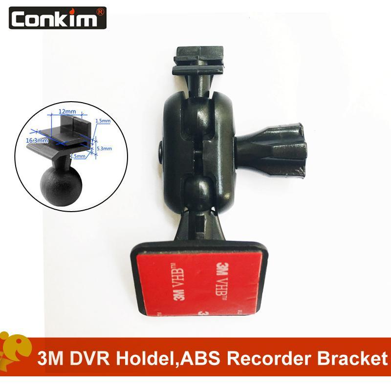 DVR titulares Conkim 360 grados Auto navegación GPS adhesiva de 3M Car Mount Holder para DVR Video Recorder Cam GT300 G30 coche Accesso
