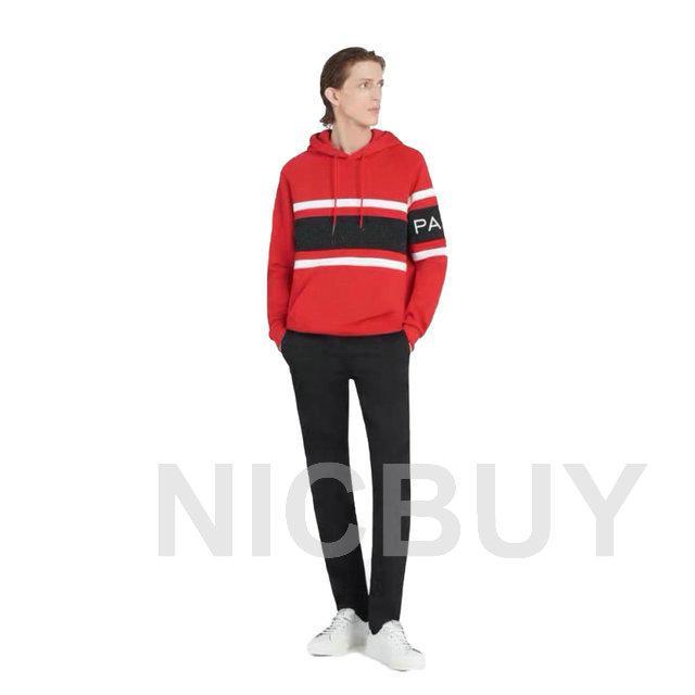 2020 moda outono dar mens listradas luxo designer carta de retalhos bordados hoodies moletom com capuz camisola de algodão tag ocasional
