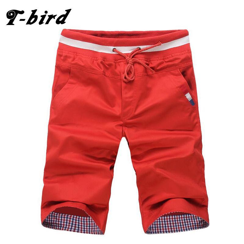T-Bird 2020 Mens Shorts Casual Bermuda marca sólida 9 Cor Compression Masculino de carga Shorts Homens Roupa Moda Masculina Verão Linho