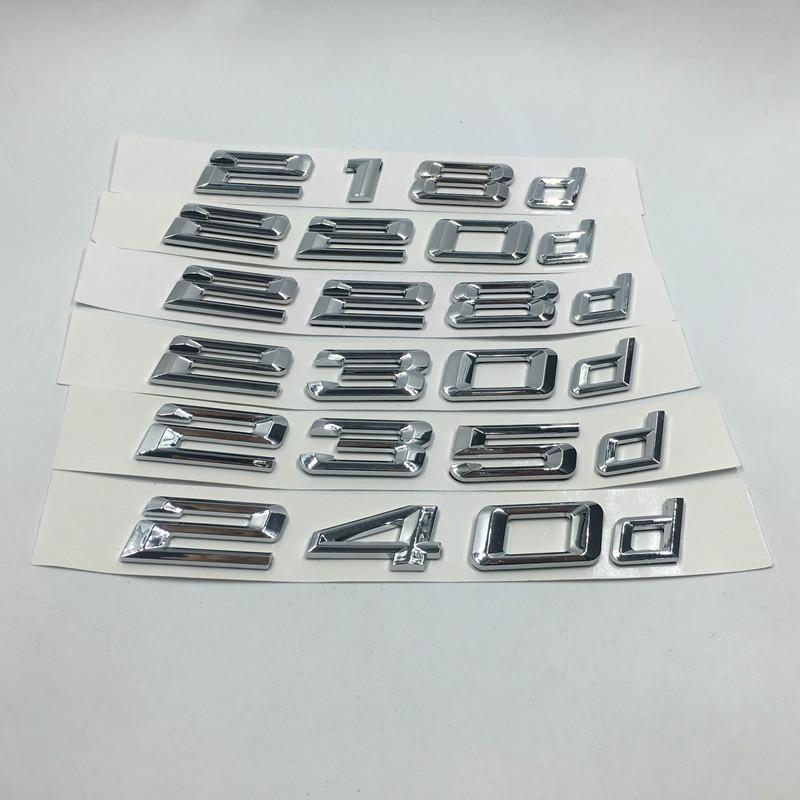 Pour Bmw 2Class Performance Sticker 218d 220d 228d 230d 235d 240d Logos Boot arrière voiture badge emblème Decal