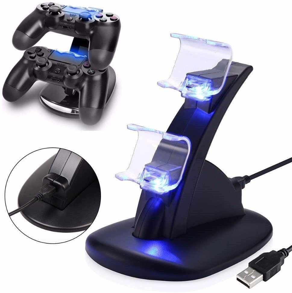 PS4 Acessórios Joystick PS4 Charger Play Station 4 Dual Micro USB Charging Station Suporte para SONY Playstation 4 PS4 Controlador
