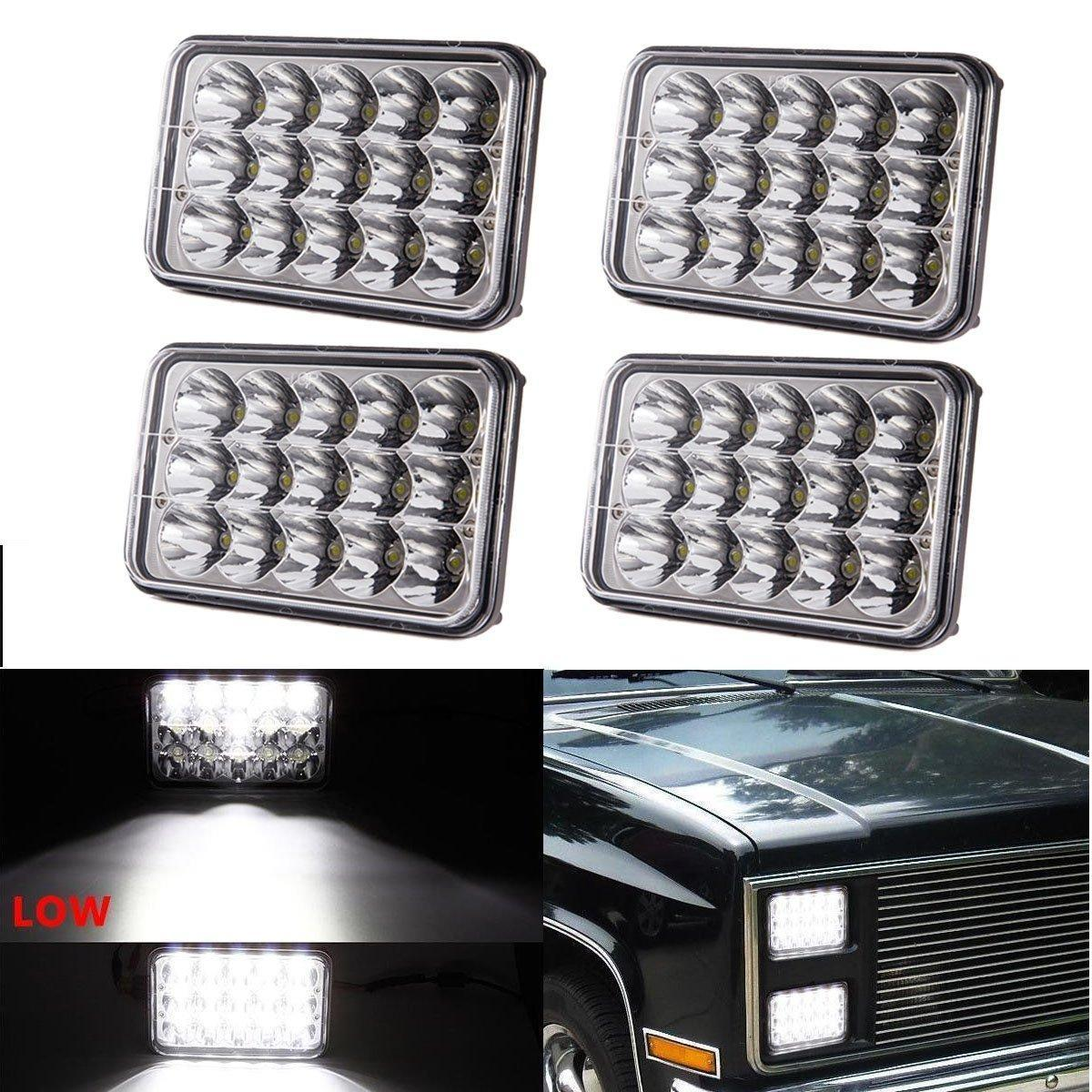 4x6 inch LED Headlights Rectangular Replacement H4651 H4652 H4656 H4666 H6545