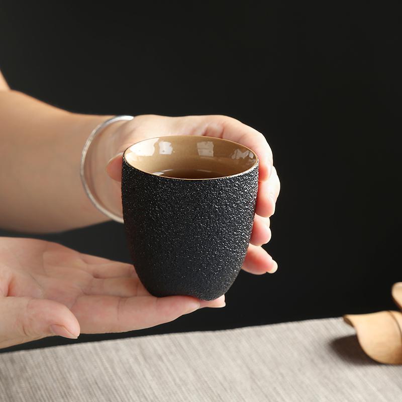 TANGPIN louça cerâmica preta xícara de chá de porcelana copo doméstico chinese kung fu Y200107 copo 150ml