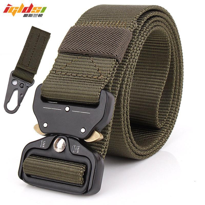 Tactical Nylon Exército Belt forças especiais SWAT Homens equipamentos de combate multifuncional Cintura Emergency Survival Belt 3.8cm