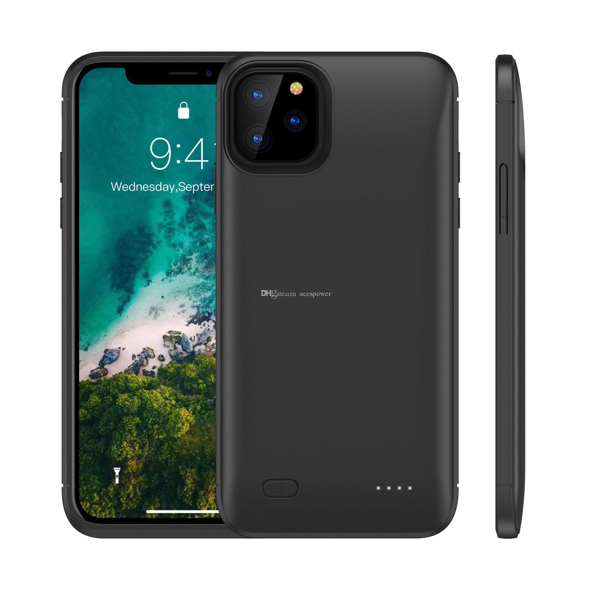 Batterie Slim Chargeur pour iPhone 11 Pro X XS Max Power Bank charge couverture de secours chargeur pour iPhone XR 8 Plus Cases