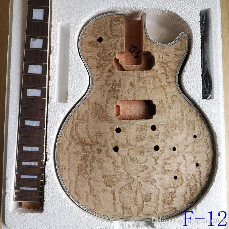Huaqu ليو مو LP مواد صنع الغيتار الكهربائي الاكسسوارات قشرة الخوخ الجسم الأساسية الخشب الصلب