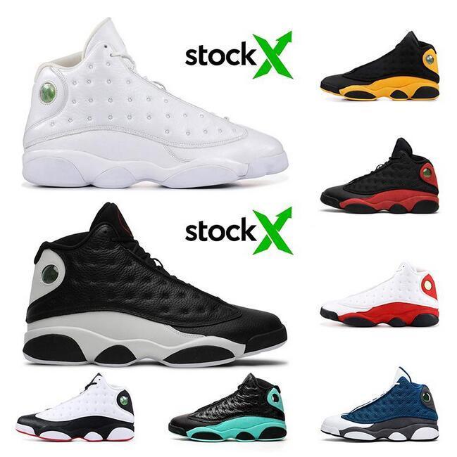 أحذية النساء الرجال لكرة السلة 13 Jumpman 13S XIII كاب وثوب جو جزيرة رمادي أخضر بارونات حذاء مصمم