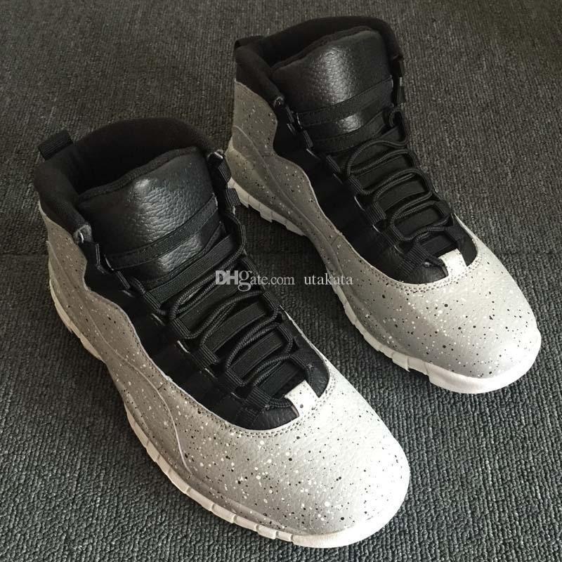 Цемент 10 Westbrook 10s I M Back White Black Cool Grey Bobcats Chicago Steel Grey мужская баскетбольная обувь 10 кроссовок размер Eur 40-47