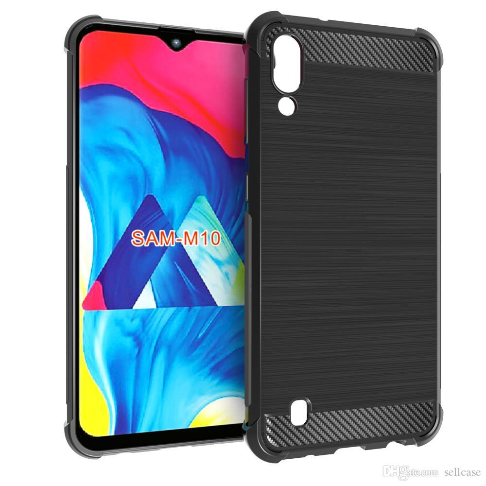 Für Samsung Galaxy M10 / M20 Abdeckung S Line TPU Gel Skin Cover weicher stoßfester Fall