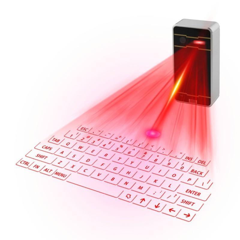 Tastiera di proiezione laser Bluetooth intelligente portatile portatile compatibile con una varietà di dispositivi