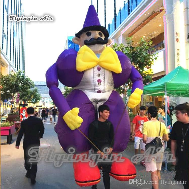 Divertente Walking gonfiabile Clown Puppet 3.5m Colpo indossabile Fino Clown costume per Parade e Circus Show