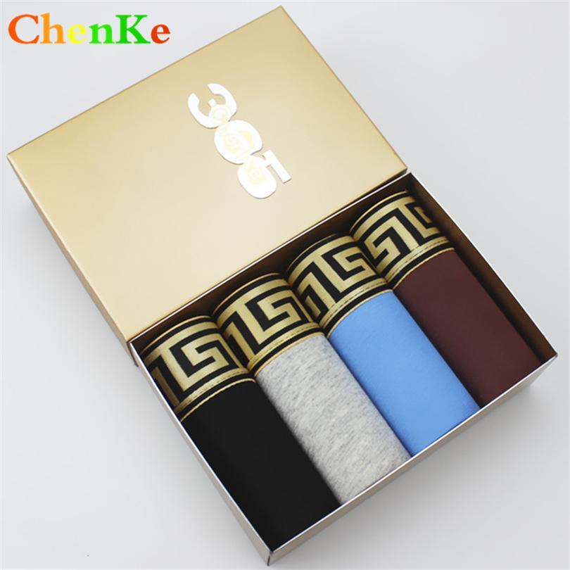 Chenke Hot Sale Cotton Boxershorts Männer Widening Goldgürtel Heathy Unterwäsche Marke Mens Boxer Male Panties 7 Farben Y200414