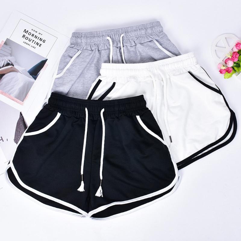 Sports Shorts Mulheres Verão 2020 New Anti Esvaziado Skinny Shorts Casual calças de yoga Lady cintura elástica Praia curtas #D