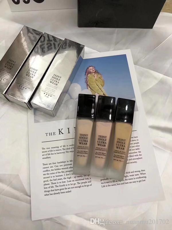 Wholesale price 3 Colors Makeup fond de TEINT IDOLE ULTRA WEAR Liquid Foundation 30ml fondotinta concealer Kit free shopping