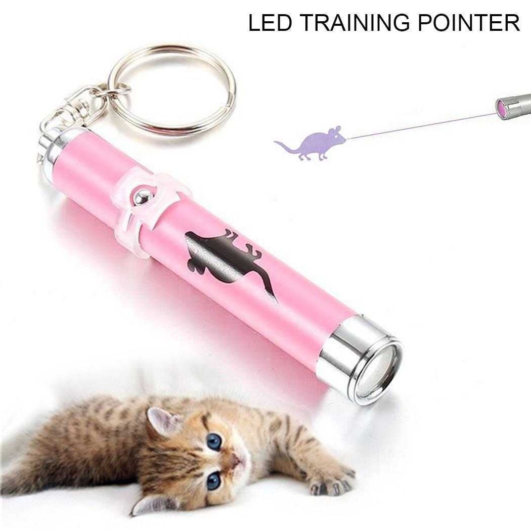 Funny Cat Play Toy Interactive led Training Laser Pointer Pen Mouse Animation