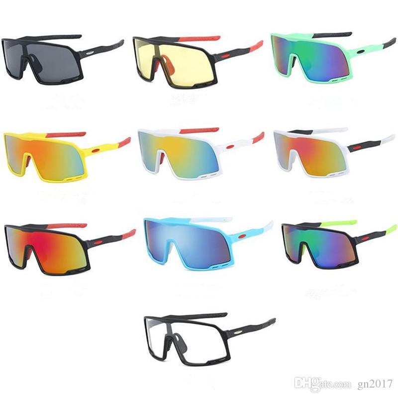 Moda Erkekler Tek Parça Güneş Gözlüğü Rüzgar Geçirmez Bisiklet Güneş Gözlükleri Açık Spor Bisiklet Gözlük Anti-UV Gözlük Gözlük Gözlük A ++