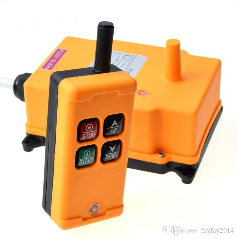 Livraison gratuite 1 émetteur 4 canaux 1 grue sans fil Hoist Contrôle de la vitesse industrielle radio à distance du système de contrôle OBOHOS